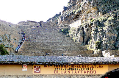 The steps of Ollantaytambo.