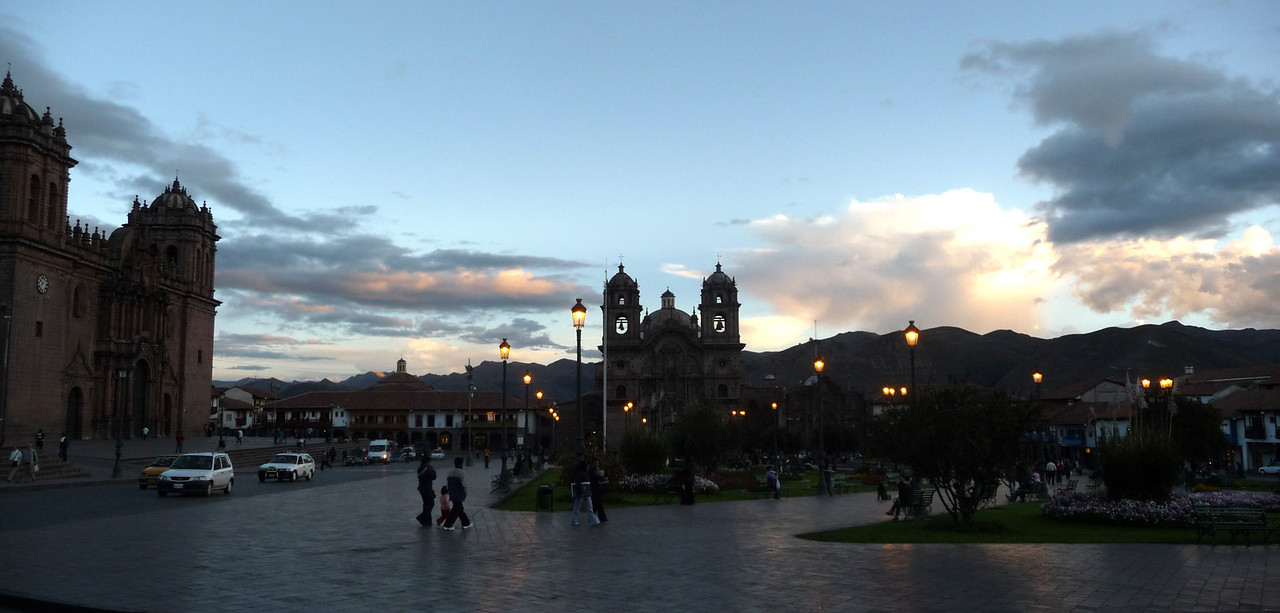 Dusk falls on Cusco.