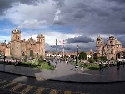 Plaza de Armas, Cusco.  The main square.