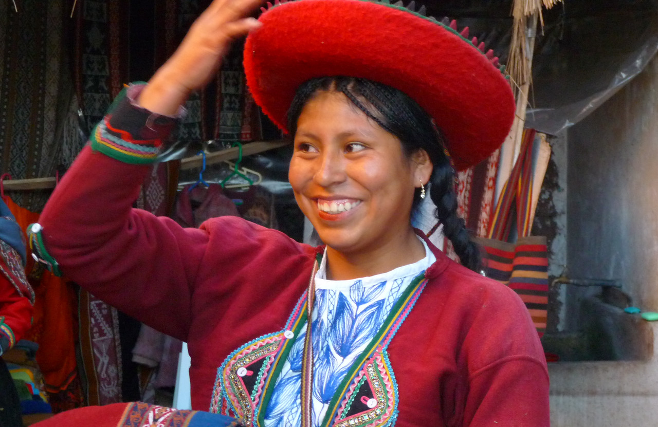 In the town of Chinchero, our local host Cynthia showed us how dyes were created and used to color alpaca wool.