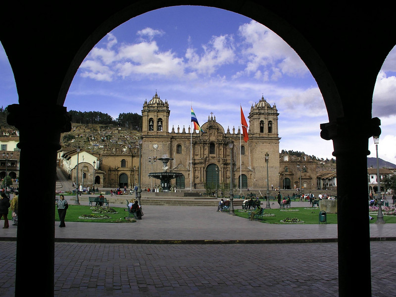 View of the the square from a cafe.