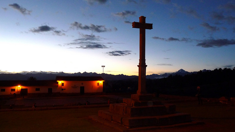 Night falls in Chinchero.