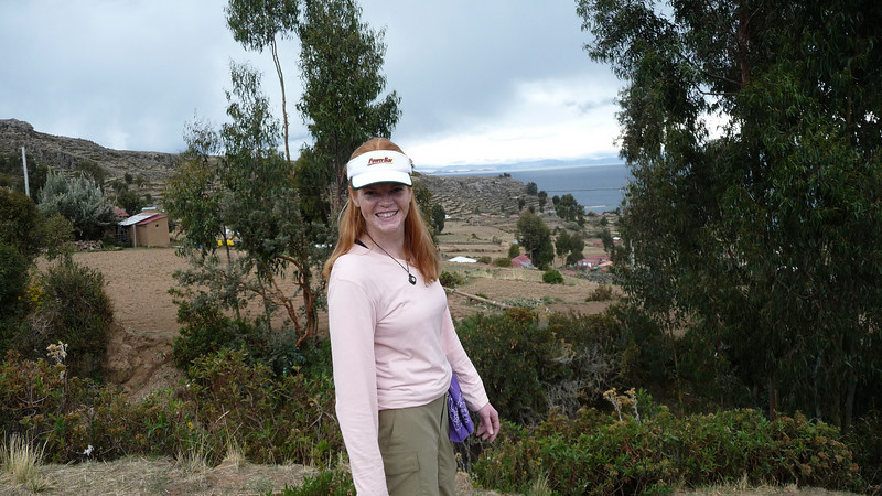 Lora enjoying an afternoon hike up the mountain side.