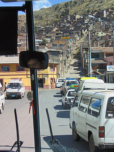 Leaving Puno - not itself a particularly attractive city