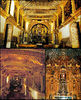 Photos were not allowed inside, but these images, taken from the web, give some idea of the incredible richness of decoration: gold-leaf-covered altars, frescoes, paintings and ceilings