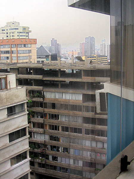 Apparently unfinished apartment buildings from our window. (Peruvians often add extra floors to their property to accommodate a growing family)