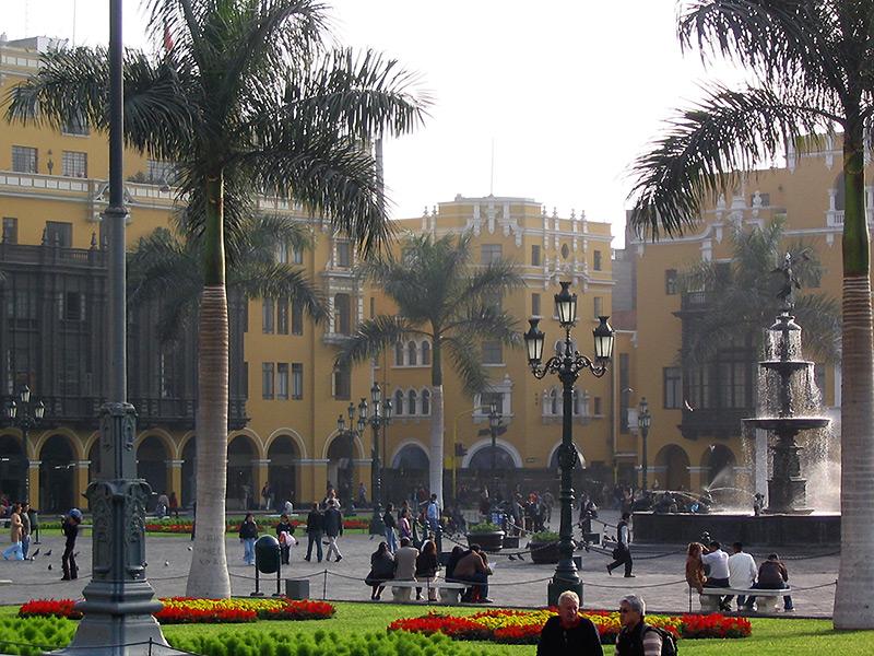 View of the square from the palace