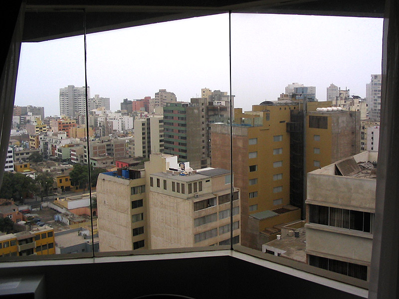 Down-town Lima from our hotel room