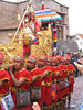 The Inca is carried through the streets