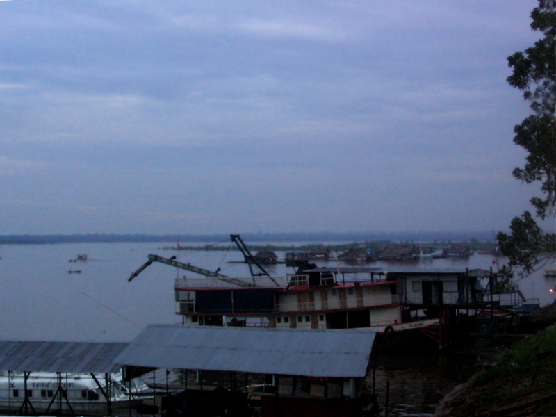 The Amazon at Iquitos, when we arrived back in the early morning