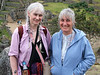 Close-up crop of Joy and Cath, in Machu Picchu at last!