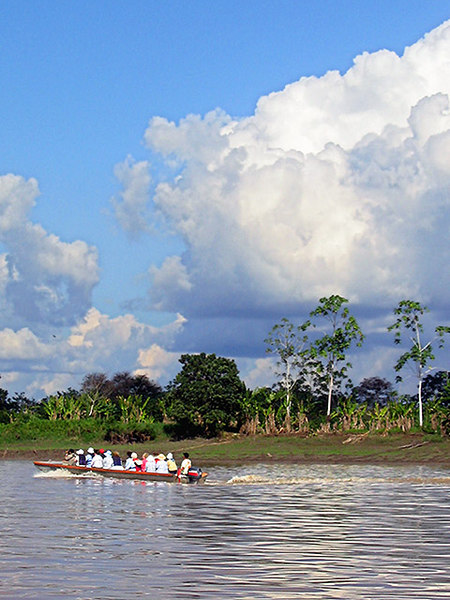 Setting off up the Amazon to visit the Yagua village