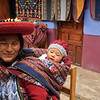 This lovely lady is one of the weavers at the cooperative in Chinchero.  She walks a long distance from her home to the weaving co-op, and brings her charming 9-month-old baby to work with her.