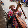 Another photo of Juan Diego,  playing his harp.