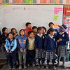 Children at a school in the mountain village of Chinchero.