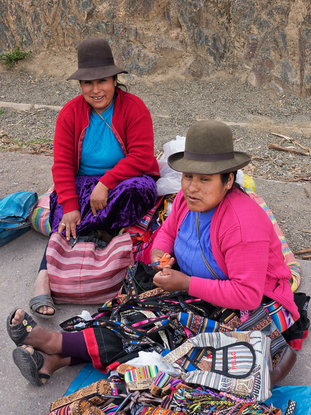 Young entrepreneurs at the Pisac archeological  site.