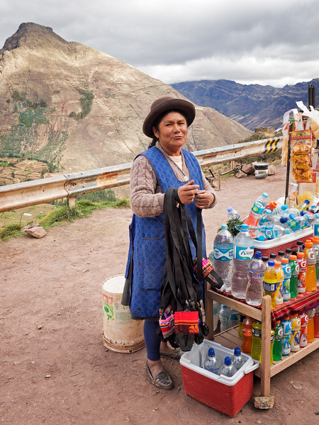 Another vendor at the Pisac archeological site.