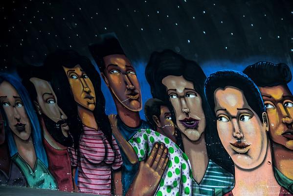 Street art is big in Lima
