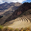 These curved terraces are a main feature of the Pisac archeological site.