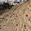 The Huaca Pucllana ruins -- right in the middle of the modern Miraflores district of Lima, Peru.