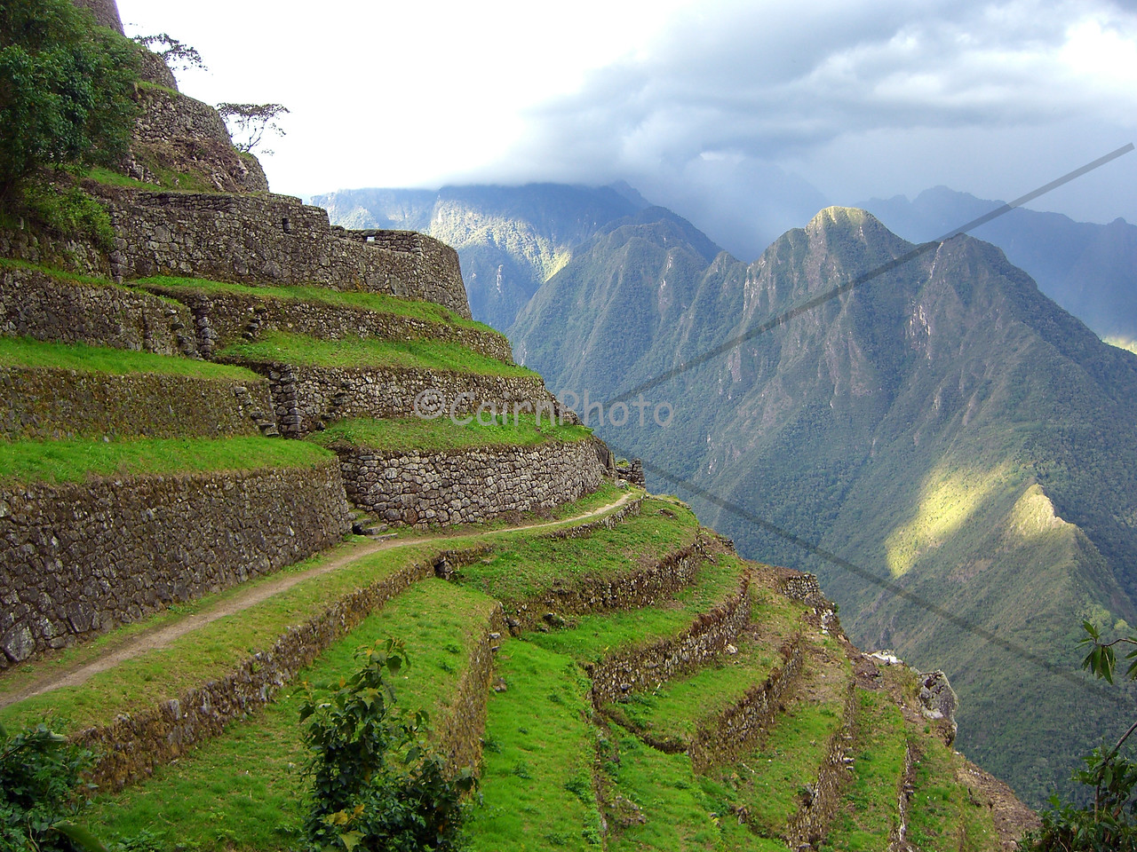 Beautiful terraces near Phuyupatamarca.