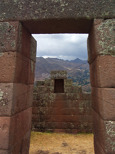Since we had a free day, we took a day (a long day!) tour to the Sacred Valley.  This picture was taken at the Pisac ruins.