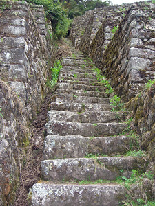 Ancient stone steps near Phuyupatamarca.