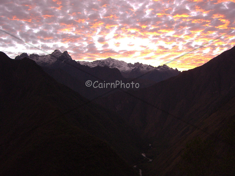 Sunrise at Winay Waya, the last campsite before heading to Machu Picchu.