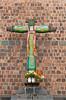 A traditional cross at the Inca Sun Temple in Cusco, Peru, South America.
