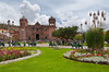 The cathedral on the Plaza de Armas in Cusco, Peru, South America.