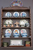 A private collection of plates in a home in Lima, Peru, South America.
