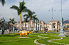 The government Palace on the Plaza Major in Lima, Peru, South America.