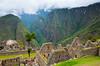 The archaeological Inca ruins of Machu Picchu in Peru, South America.