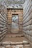 A hallway and door in the Inca ruins of Machu Picchu, Peru, South America.