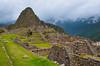 the archeological Inca ruins of Machu Picchu in Peru, South America.