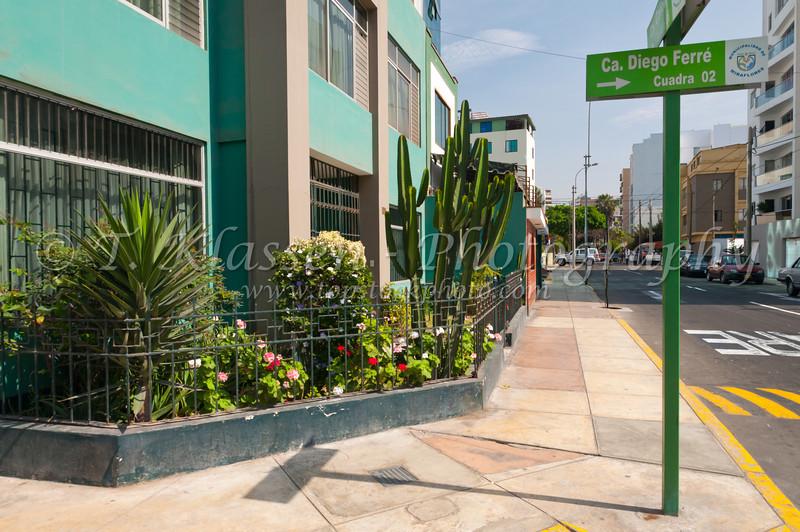 Miraflores street in Lima, Peru, South America.