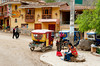 Shops on the market street of Ollantaytambo, Peru, South America.