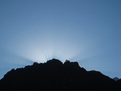 Мачу-Пикчу. Восход 22 июня 2010. 2 день солнцестояния/Machu Picchu. Sunrise June 22, 2010. Day 2 solstice.