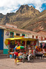 The street markets of Pisac, Urubamba Valley, Peru, South America.