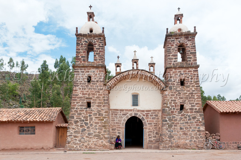 The church at Racchi in the Urubamba Valley in Peru, South America.