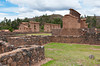 The archeolgical ruins of the Temple of Wiracocha in Racchi, Peru, South America.