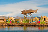 The floating Islands in Lake Titicaca, Peru, South America.