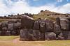 Rock walls at the fortress of Sacsayhuaman, Peru, South America.