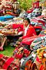 Ethnic Peruvian market at the Sonesta Posada del Inca hotel in Yucay, Peru, South America.