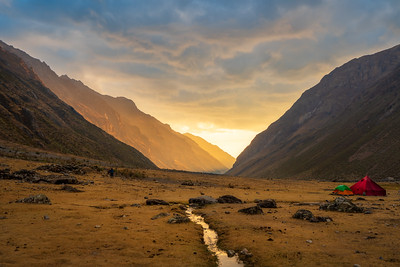 Sunset over the Huayhuash