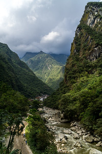 Cloudy River Valley in Central Peru