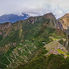Panoramic view of Machu Picchu from atop Wayna Pucchi.