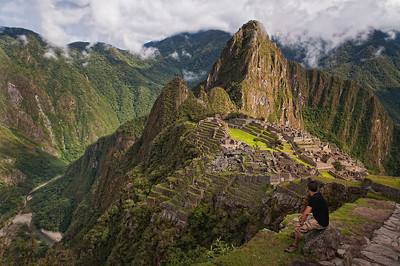 Trying to take it all in at Machu Picchu
