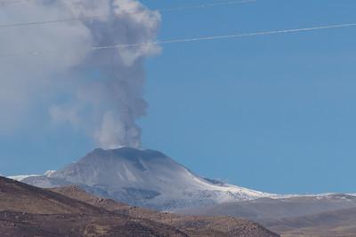 An active volcano in Colca Canyon