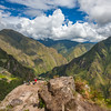 Almost to the top of Wayna Picchu.